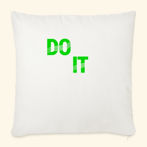 """DON'T QUIT #4 - Throw Pillow Cover 18"""" x 18"""""""