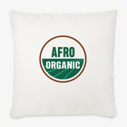 "Afro Organic - Throw Pillow Cover 18"" x 18"""