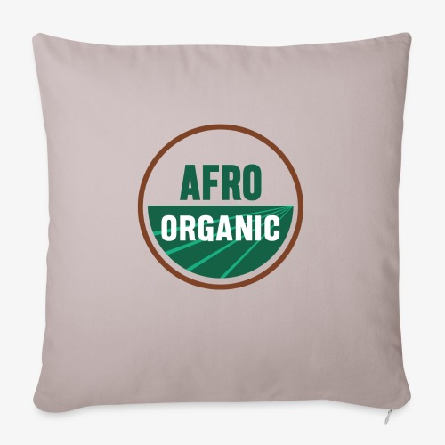 "Afro Organic - Throw Pillow Cover 18"" x 18"""
