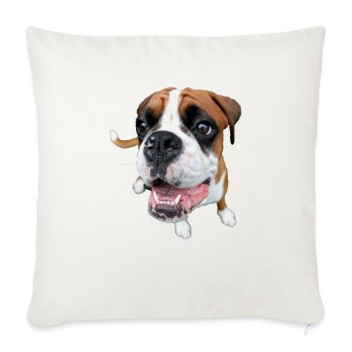 """Boxer Rex the dog - Throw Pillow Cover 17.5"""" x 17.5"""""""