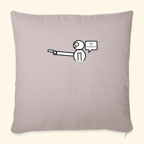 "OMG its txdiamondx - Throw Pillow Cover 18"" x 18"""
