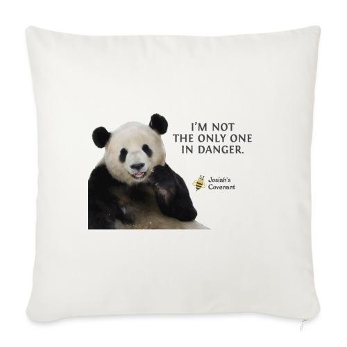 "Endangered Pandas - Josiah's Covenant - Throw Pillow Cover 17.5"" x 17.5"""