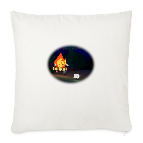 """'Round the Campfire - Throw Pillow Cover 18"""" x 18"""""""