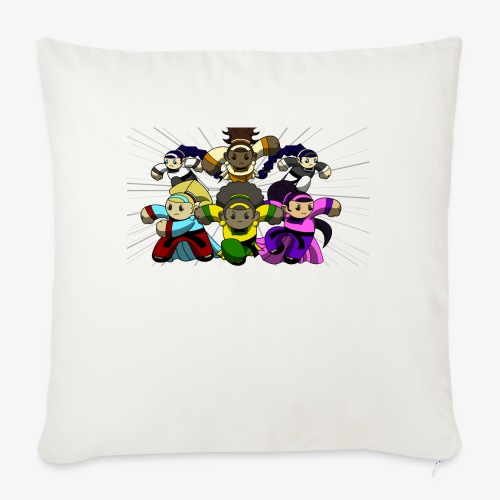 "The Guardians of the Cloudgate, no logo - Throw Pillow Cover 18"" x 18"""