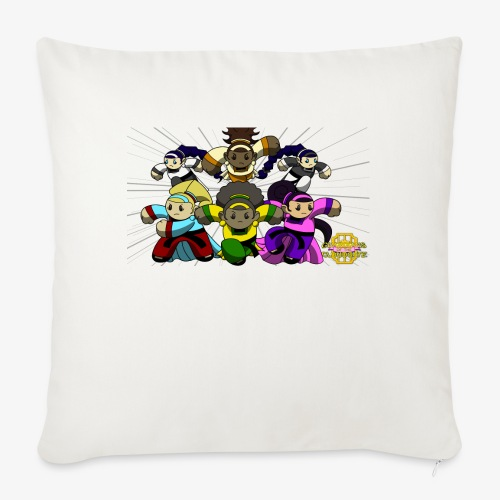 "The Guardians of the Cloudgate w/ Logo - Throw Pillow Cover 18"" x 18"""