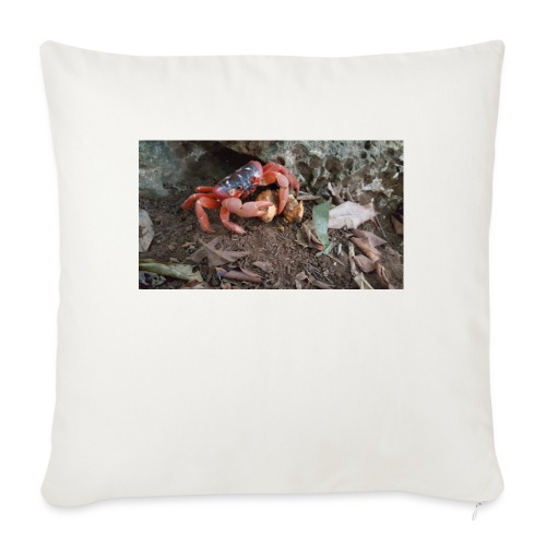 """Red Crab - Throw Pillow Cover 17.5"""" x 17.5"""""""