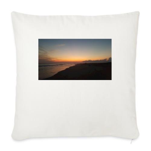 """Ocean Sunset - Throw Pillow Cover 18"""" x 18"""""""