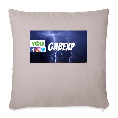 "gabexp 1 - Throw Pillow Cover 18"" x 18"""