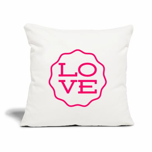 "love design - Throw Pillow Cover 18"" x 18"""