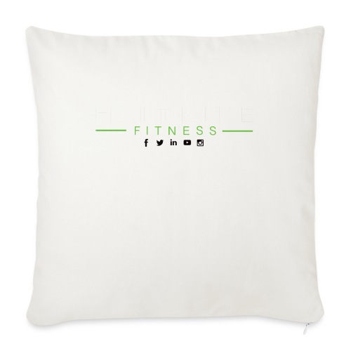 "hlfsocialwht - Throw Pillow Cover 18"" x 18"""