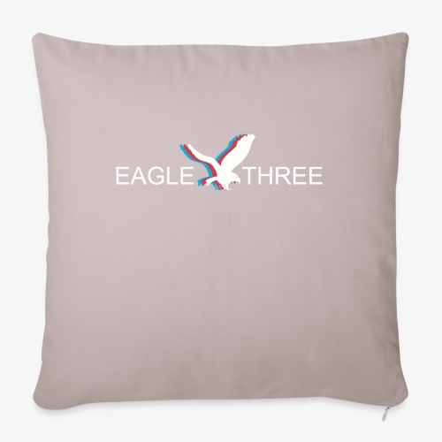 "EAGLE THREE APPAREL - Throw Pillow Cover 18"" x 18"""