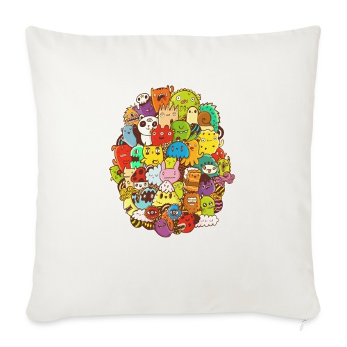 """Doodle for a poodle - Throw Pillow Cover 18"""" x 18"""""""
