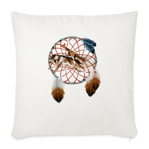 """Wolf n Pipe - Throw Pillow Cover 17.5"""" x 17.5"""""""