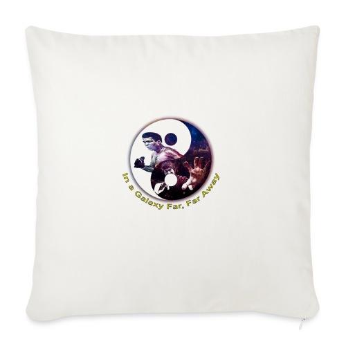 "Muhammad ali, Bruce lee,In a galaxy far, far Away - Throw Pillow Cover 18"" x 18"""
