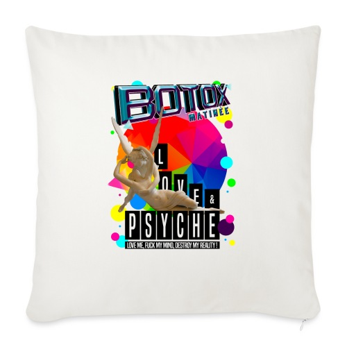 "BOTOX MATINEE LOVE & PSYCHE T-SHIRT - Throw Pillow Cover 18"" x 18"""