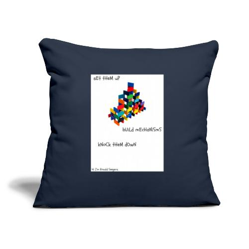"""Hi I'm Ronald Seegers Collection-dominoes - Throw Pillow Cover 18"""" x 18"""""""
