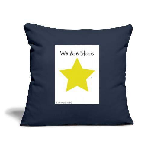 "Hi I'm Ronald Seegers Collection-We Are Stars - Throw Pillow Cover 18"" x 18"""