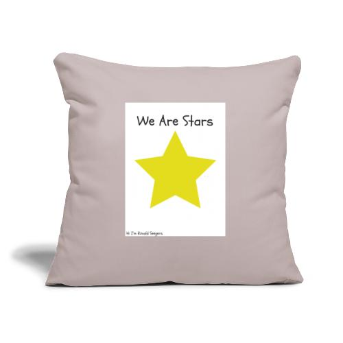 """Hi I'm Ronald Seegers Collection-We Are Stars - Throw Pillow Cover 18"""" x 18"""""""