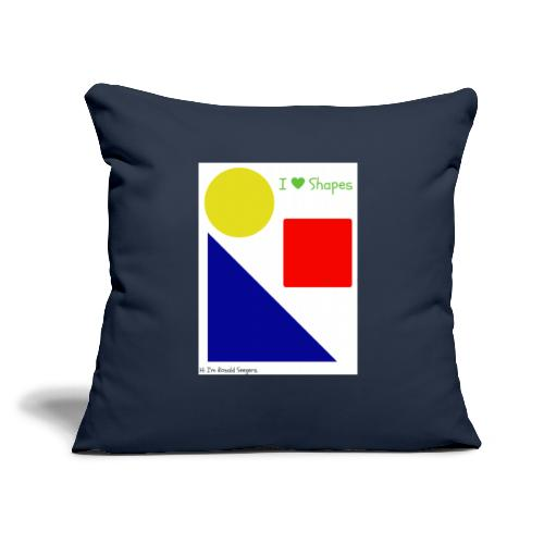 "Hi I'm Ronald Seegers Collection-I Love Shapes - Throw Pillow Cover 18"" x 18"""