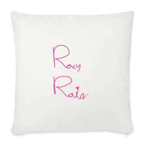 "Roxy Rain signature - Throw Pillow Cover 18"" x 18"""