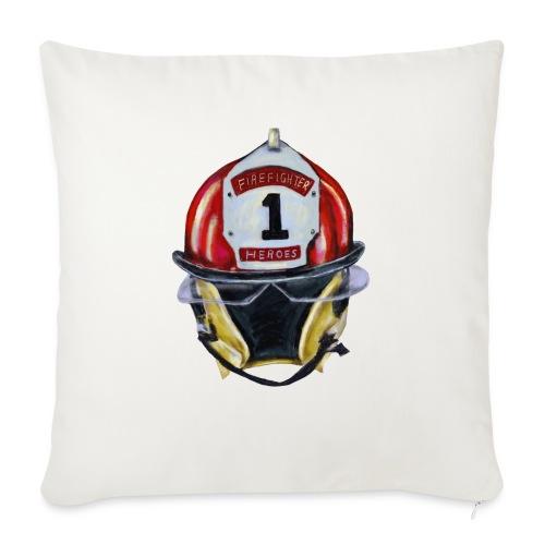 "Firefighter - Throw Pillow Cover 17.5"" x 17.5"""