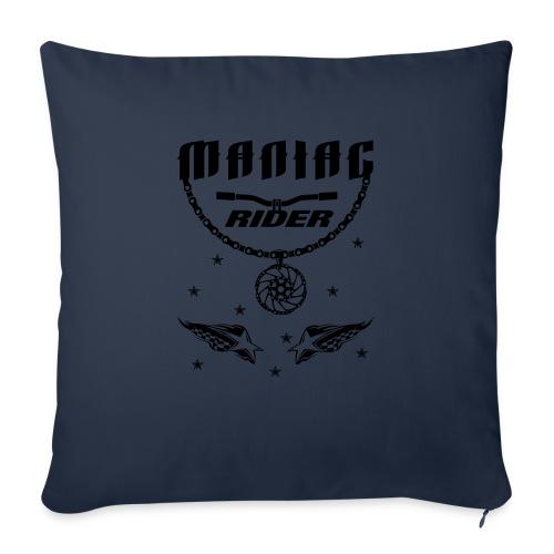 "Maniac Rider Downhill Mountainbike bike-rider - Throw Pillow Cover 18"" x 18"""