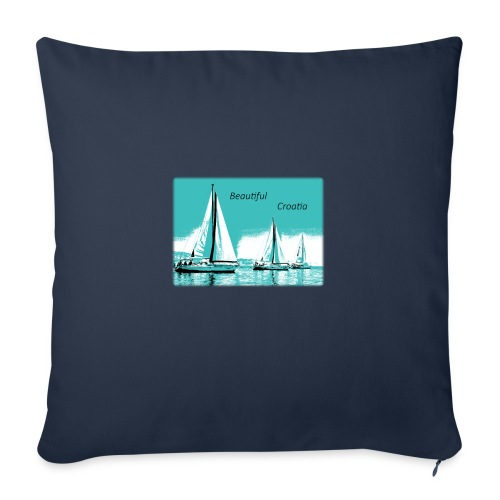 "Beautiful Croatia - Throw Pillow Cover 18"" x 18"""