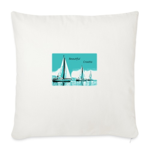 "Beautiful Croatia - Throw Pillow Cover 18"" x 18"""