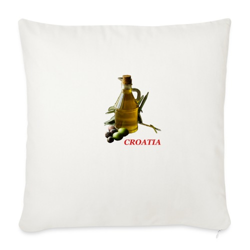 "Croatian Gourmet 2 - Throw Pillow Cover 18"" x 18"""