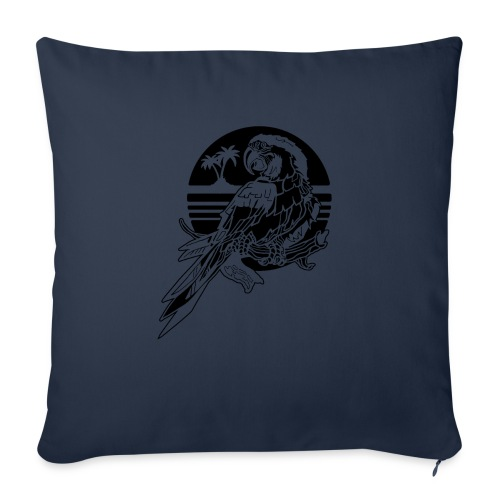 "Tropical Parrot - Throw Pillow Cover 18"" x 18"""