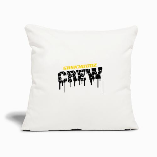 """saskhoodz crew - Throw Pillow Cover 17.5"""" x 17.5"""""""