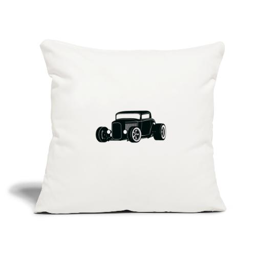 "Classic American Hot Rod - Throw Pillow Cover 17.5"" x 17.5"""