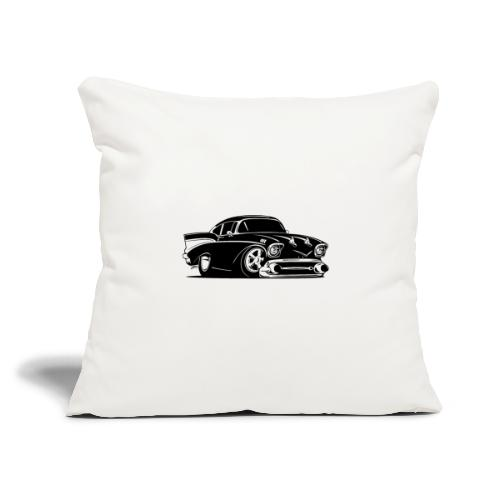"Classic American Hot Rod Car - Throw Pillow Cover 17.5"" x 17.5"""