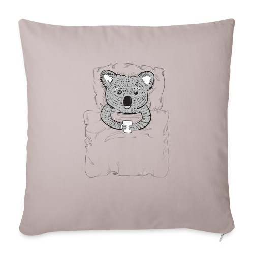 """Print With Koala Lying In A Bed - Throw Pillow Cover 17.5"""" x 17.5"""""""