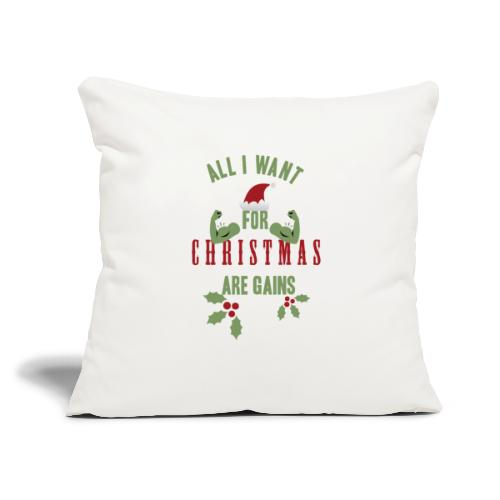 "All i want for christmas - Throw Pillow Cover 18"" x 18"""