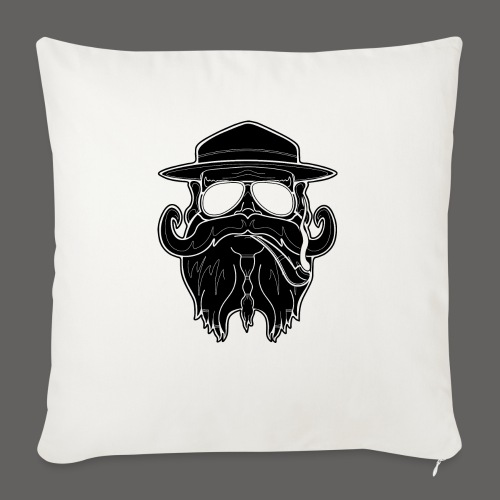 "OldSchoolBiker - Throw Pillow Cover 18"" x 18"""