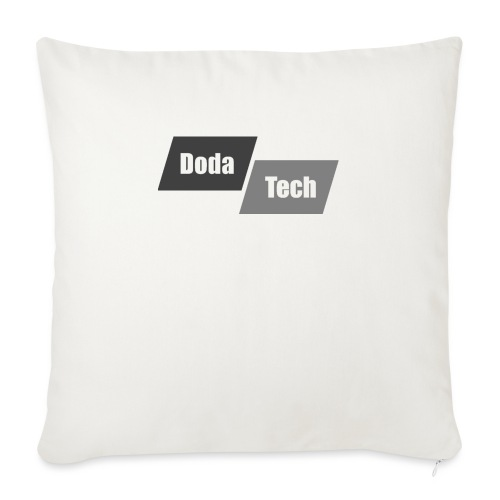 "DodaTech Logo - Throw Pillow Cover 18"" x 18"""