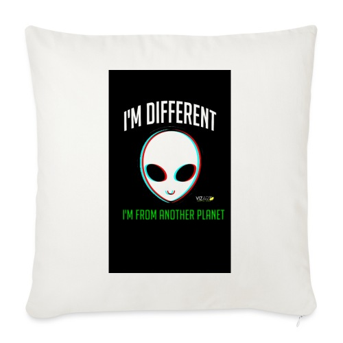 "I'm from another planet - Throw Pillow Cover 18"" x 18"""