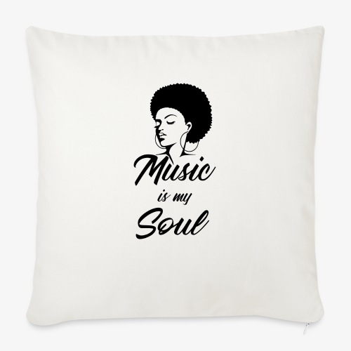 """Music Is My Soul - Throw Pillow Cover 17.5"""" x 17.5"""""""