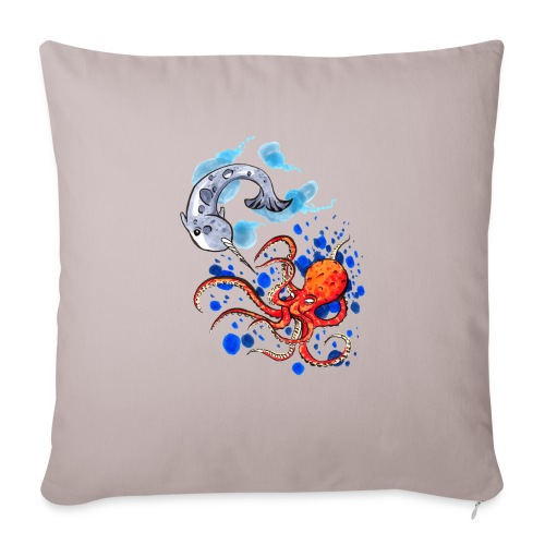 "JLK Undersea Mastery - Throw Pillow Cover 18"" x 18"""
