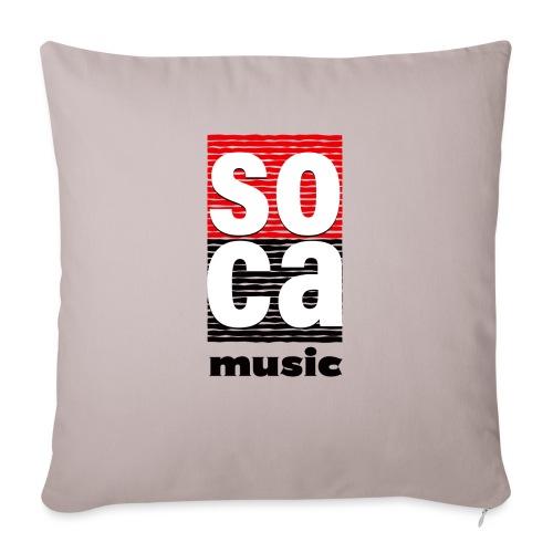 "Soca music - Throw Pillow Cover 18"" x 18"""