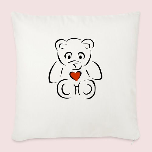 "Sweethear - Throw Pillow Cover 18"" x 18"""