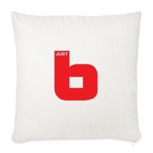 "just b - Throw Pillow Cover 17.5"" x 17.5"""