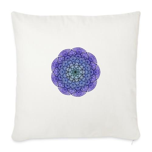 "Purple mandala - Throw Pillow Cover 17.5"" x 17.5"""