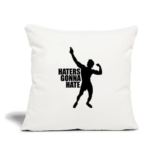 """Zyzz Silhouette Haters Gonna Hate - Throw Pillow Cover 17.5"""" x 17.5"""""""