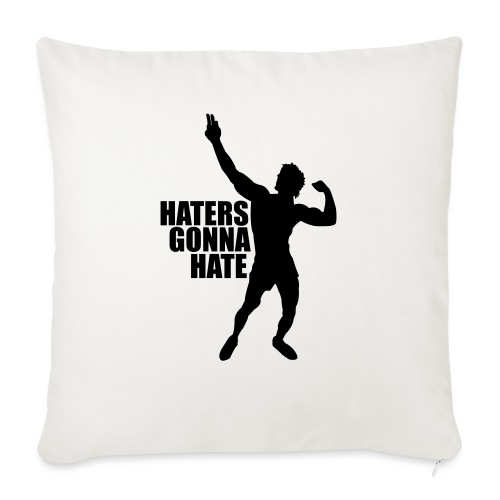 "Zyzz Silhouette Haters Gonna Hate - Throw Pillow Cover 17.5"" x 17.5"""