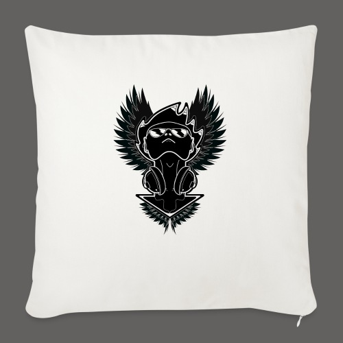 "Winged Dj - Throw Pillow Cover 18"" x 18"""
