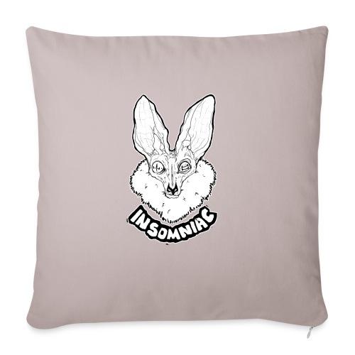 "INSOMNIAC - Throw Pillow Cover 18"" x 18"""