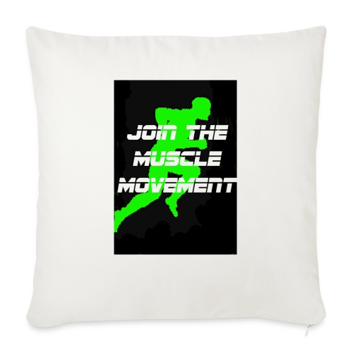 """muscle movement - Throw Pillow Cover 18"""" x 18"""""""