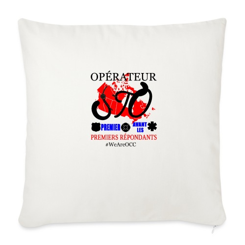 "Operateur STO - Throw Pillow Cover 18"" x 18"""